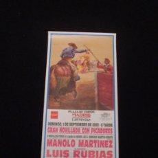 Carteles Toros: CARTEL NOVILLADA -LAS VENTAS 2002- . Lote 21430105