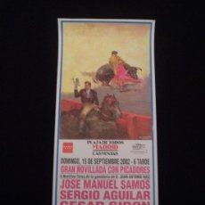 Carteles Toros: CARTEL NOVILLADA -LAS VENTAS 2002-. Lote 21444611