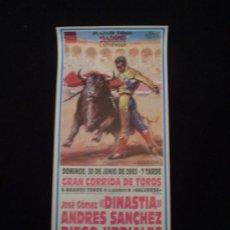 Carteles Toros: CARTEL CORRIDA DE TOROS -LAS VENTAS 2002-. Lote 23596443