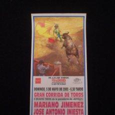 Carteles Toros: CARTEL CORRIDA DE TOROS -LAS VENTAS 2002- . Lote 21444565