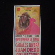 Carteles Toros: CARTEL CORRIDA DE TOROS -LAS VENTAS 2002- . Lote 21430092