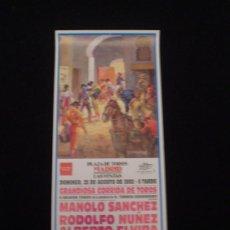 Carteles Toros: CARTEL CORRIDA DE TOROS -LAS VENTAS 2002-. Lote 21074167