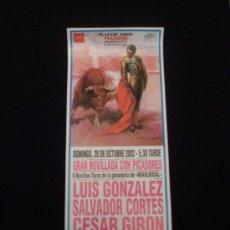 Carteles Toros: CARTEL DE NOVILLADA -LAS VENTAS 2002-. Lote 21074170