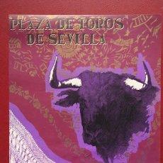 Carteles Toros: CARTEL DE TOROS DE SEVILLA.. Lote 23830575
