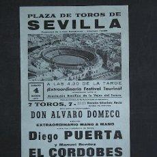 Carteles Toros: CARTEL DE TOROS DE SEVILLA. . Lote 12141147