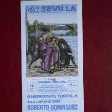Carteles Toros: CARTEL DE TOROS DE SEVILLA.. Lote 13578549