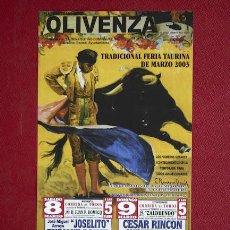 Carteles Toros: CARTEL DE TOROS DE OLIVENZA.. Lote 12986089