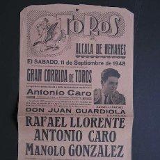 Carteles Toros: CARTEL DE TOROS DE ALCALÁ DE HENARES. . Lote 27017097