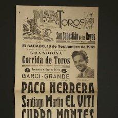 Carteles Toros: CARTEL DE TOROS DE SAN SEBASTIÁN DE LOS REYES.. Lote 13598985