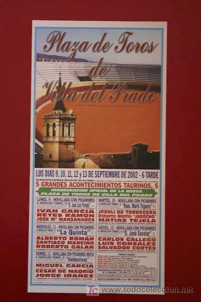 CARTEL DE TOROS DE VILLA DEL PRADO. (Coleccionismo - Carteles Gran Formato - Carteles Toros)