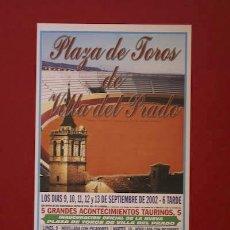 Carteles Toros: CARTEL DE TOROS DE VILLA DEL PRADO.. Lote 25179394