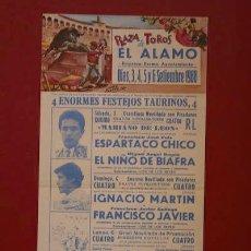 Carteles Toros: CARTEL DE TOROS DE EL ÁLAMO.. Lote 17923379