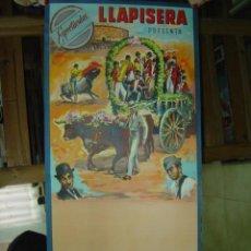 Carteles Toros: CARTEL TOROS - ESPECTACULOS LLAPISERA - ILUSTRADOR: DONAT - AÑO 1960 - SIN IMPRIMIR. Lote 32930654
