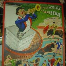 Carteles Toros: CARTEL TOROS - ESPECTACULOS LLAPISERA - ILUSTRADOR: DONAT - AÑOS 1950-60 - LITOGRAFIA. Lote 176813134