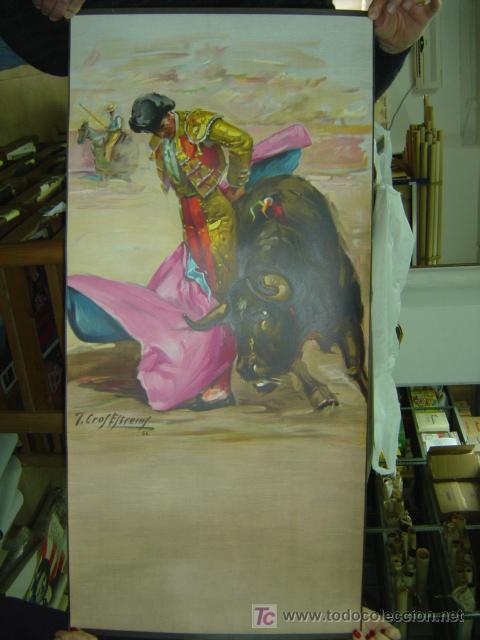 CARTEL TOROS - ILUSTRADOR: CROS ESTREMS - AÑO 1966 - SIN IMPRIMIR - LITOGRAFIA (Coleccionismo - Carteles Gran Formato - Carteles Toros)