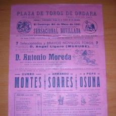 Carteles Toros: PLZA DE TOROS DE ONDARA. Lote 27451290