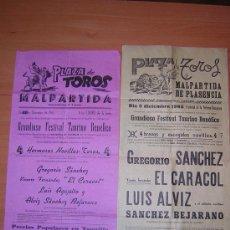 Carteles Toros: PLAZA DE TOROS DE MALPARTIDA DE PLASENCIA 1965. Lote 26516831