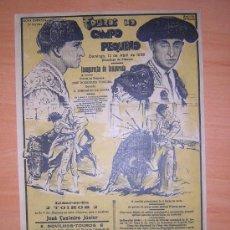 Carteles Toros: PLAZA DE TOROS DE CAMPO PEQUENO 1936. Lote 27098862