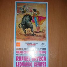 Carteles Toros: MADRD 24 DE JUNIO DE 2001. Lote 27574852