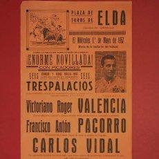 Cartazes Touros: CARTEL DE TOROS DE ELDA.. Lote 19433193