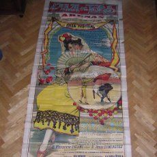 Carteles Toros: CARTEL DE TOROS (TAMAÑO PORTALON) DE BARCELONA 1930 (MILITAR ). Lote 200338987