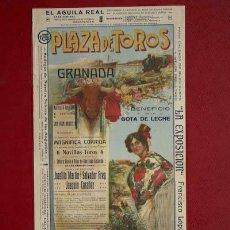 Carteles Toros: CARTEL DE TOROS DE GRANADA. 24 DE JUNIO DE 1919. JOSELITO MARTÍN, SALVADOR FREG Y JOAQUÍN CASÁÑEZ.. Lote 21368490