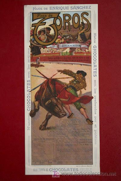 CARTEL DE TOROS DE GRANADA. CORPUS 1914. LAGARTIJILLO CHICO, GALLO, GALLITO, BELMONTE, POSADA, ETC. (Coleccionismo - Carteles Gran Formato - Carteles Toros)