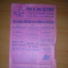Carteles Toros: PLAZA DE TOROS DE VALENCIA 1986. Lote 26702684