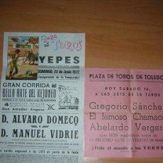 Carteles Toros: PLAZA DE TOROS DE TOLEDO Y YEPES. Lote 27534110
