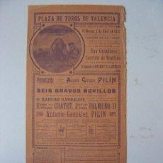 Carteles Toros: CARTEL TOROS - VALENCIA - ABRIL DE 1932. Lote 16192311
