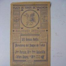 Carteles Toros: CARTEL TOROS - VALENCIA - AGOSTO DE 1935. Lote 16192312