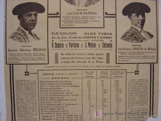 Carteles Toros: CARTEL TOROS - VALENCIA - JULIO DE 1922 - ILUSTRADOR: ROBERTO DOMINGO - Foto 9 - 22974664