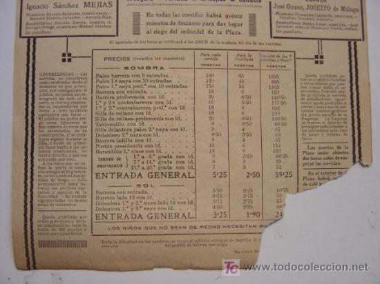 Carteles Toros: CARTEL TOROS - VALENCIA - JULIO DE 1922 - ILUSTRADOR: ROBERTO DOMINGO - Foto 10 - 22974664