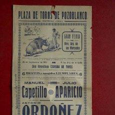 Carteles Toros: CARTEL DE TOROS DE POZOBLANCO.. Lote 18609247