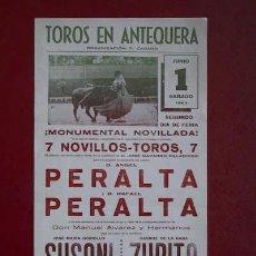 Carteles Toros: CARTEL DE TOROS DE ANTEQUERA.. Lote 20119313