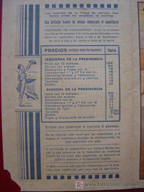 Carteles Toros: PROGRAMA-CARTEL TOROS - ZAMORA - ILUSTADOR: RUANO LLOPIS - AÑO 1934 - Foto 3 - 16439280