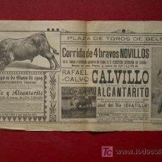 Carteles Toros: CARTEL DE TOROS DE BÉLMEZ. . Lote 21447780
