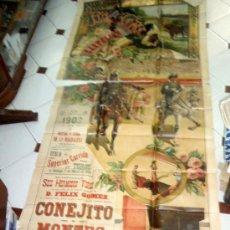 Carteles Toros: CARTEL TOROS CASTELLON 1902 , CROMO LITOGRAFICO, GRAN TAMAÑO, FIESTAS MAGDALENA, PEREA. Lote 23506455