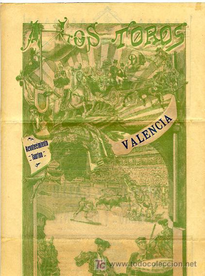 Carteles Toros: CARTEL TOROS VALENCIA , 1914 , GALLO LIMEÑO Y BELMONTE - Foto 2 - 24314294