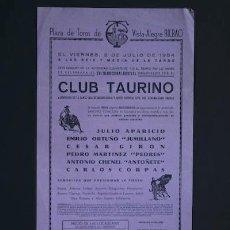 Affissi Tauromachia: CARTEL DE TOROS DE VISTA-ALEGRE. BILBAO.. Lote 27252007