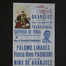 Carteles Toros: CARTEL DE TOROS DE ARANJUEZ.. Lote 102212770