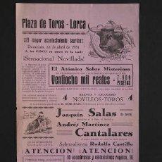 Carteles Toros: CARTEL DE TOROS DE LORCA.. Lote 20168643