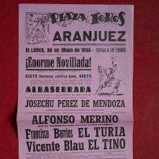 Carteles Toros: CARTEL DE TOROS DE ARANJUEZ.. Lote 23830578