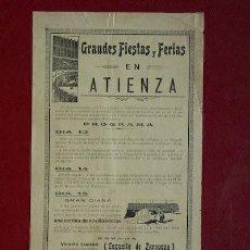 Carteles Toros: CARTEL DE TOROS DE ATIENZA.. Lote 13623327