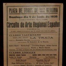 Carteles Toros: CARTEL TAURINO DEL AÑO 1935 PLAZA DE TOROS DE SANTA EUGENIA - GERONA. Lote 22157443