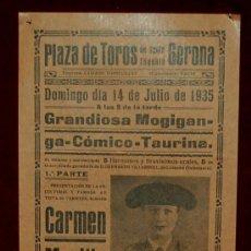 Carteles Toros: CARTEL TAURINO DEL AÑO 1935 PLAZA DE TOROS DE SANTA EUGENIA - GERONA. Lote 22340130