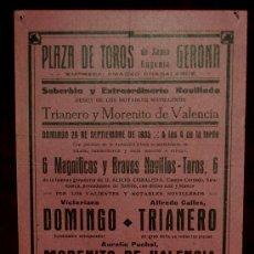 Carteles Toros: CARTEL TAURINO DEL AÑO 1935 PLAZA DE TOROS DE SANTA EUGENIA - GERONA. Lote 22157435