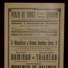 Carteles Toros: CARTEL TAURINO DEL AÑO 1935 PLAZA DE TOROS DE SANTA EUGENIA - GERONA. Lote 22157393