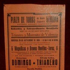 Carteles Toros: CARTEL TAURINO DEL AÑO 1935 PLAZA DE TOROS DE SANTA EUGENIA - GERONA. Lote 19214944