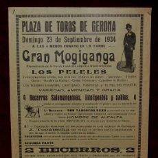 Carteles Toros: CARTEL TAURINO DEL AÑO 1934 PLAZA DE TOROS DE GERONA. Lote 22613303
